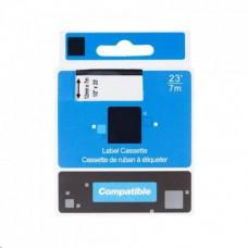 PrintLine kompatibilní páska s DYMO, 45016 S0720560, 12mm,7m, černý tisk/modrý podklad, D1