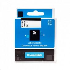 PrintLine kompatibilní páska s DYMO,45805, S0720850,19mm, 7m,červený tisk/bílý podkl.,D1
