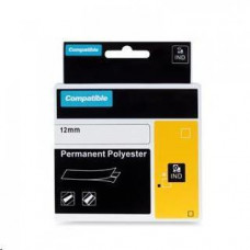PrintLine kompatibilní páska s DYMO 622289, 12mm, 5.5m, černý tisk/průhl p., RHINO polyes.