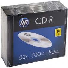 HP CD-R HP 700MB (80min) 52x slimbox 10ks/pack