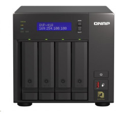 QNAP NVR QVP-41A (2core 3,1GHz, 8GB RAM, 4xSATA, 2xGbE, 2xM.2 NVMe slot, 2xPCIe, kamery: 8 (max 24)