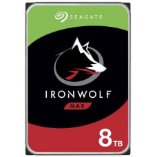 SEAGATE ST8000VN004 hdd IronWolf 8TB NAS SATA3-6Gbps 7200rpm 256MB NAS HDD 24x7 1-8bay 210MB/s 3.5