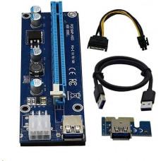 Gembird C-TECH riser karta RC-PCIEX-01C pro těžbu kryptoměn