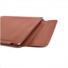 COTEetCI PU tenké pouzdro s magnetickým zapínáním pro Apple Macbook Pro 15 hnědá