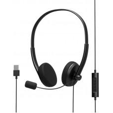 PORT DESIGNS PORT CONNECT - Stereo headset s mikrofonem, USB-A, černá