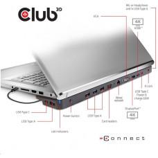 Club 3D Club3D dokovací stanice USB-C 3.2 s napájecím adaptérem Triple Dynamic PD, 100 W