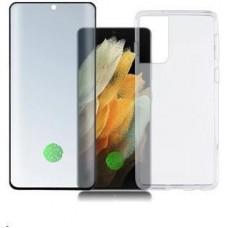 4smarts 360° Protection set (tvrzené sklo UltraSonix + gelový zadní kryt) pro Samsung Galaxy S21