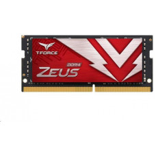 TEAMGROUP SODIMM DDR4 16GB 3200MHz, CL16, (KIT 1x16GB), T-FORCE ZEUS, Red
