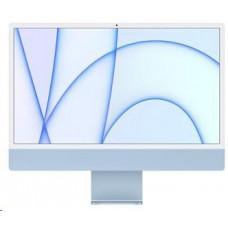 Apple 24-inch iMac with Retina 4.5K display: M1chip with 8-core CPU and 7-core GPU, 256GB - Blue