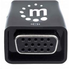 Manhattan adaptér HDMI na VGA, Micro Converter, HDMI Male na VGA Female, audio, černá