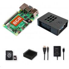Raspberry Sada Zonepi Pi 4B/8GB, (SDXC karta 64GB + adaptér, Pi4 Model B, krabička, chladič, HDMI