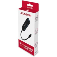 Axagon HUE-L1C, 4x USB 3.2 Gen 1 TRAVEL hub, kabel USB-C 20cm