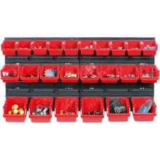 KISTENBERG systém závěsný+28 boxů na nářadí ORDERLINE 800x165x400mm