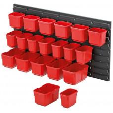 KISTENBERG systém závěsný+20 boxů na nářadí ORDERLINE 800x165x400mm