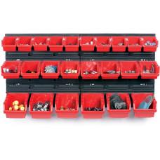 KISTENBERG systém závěsný+24 boxů na nářadí ORDERLINE 800x165x400mm