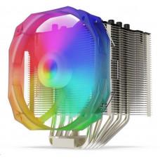 SilentiumPC chladič CPU Fortis 3 EVO ARGB HE1425/ ultratichý/ 140mm fan/ 5 heatpipes/ ARGB/ PWM