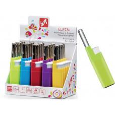 LIT GAS LIGHTER zapalovač ELFIN 12cm plamínkový, mix barev