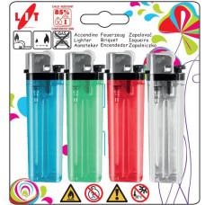 LIT GAS LIGHTER zapalovač FIERY 7,5cm plamínkový, kapesní, mix barev (4ks)