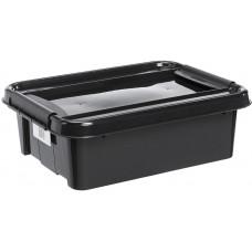 PLAST TEAM box úložný REC 21l, 51x39x16,9cm s víkem PH ČER