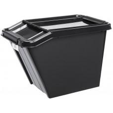 PLAST TEAM box úložný REC 58l, 65x39,5x43,8cm s víkem PH ČER