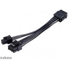 AKASA - 8-pin na 8+4-pin napájecí kabel