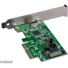 AKASA síťová karta USB 3.2 HOST card, 20Gbps USB 3.2 Gen 2x2 Internal 20-pin Connector to PCIe Host