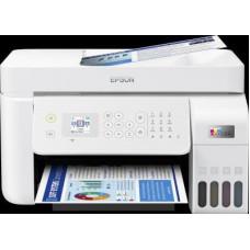 Epson tiskárna ink EcoTank L5296, 4v1, A4, 1440x5760dpi, 33ppm, USB, Wi-Fi, LAN, bílá