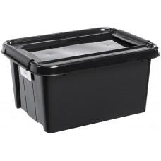 PLAST TEAM box úložný REC 32l, 51x39x25,8cm s víkem PH ČER