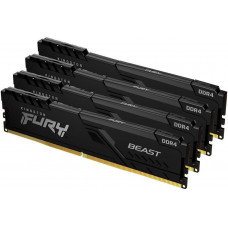 Kingston 128GB 2666MHz DDR4 CL16 DIMM (Kit of 4) FURY Beast Black