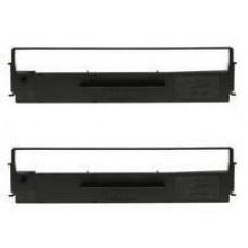 EPSON SIDM Black Ribbon Cartridge for LQ-300/+/+II/570/+/580/8xx, Dualpack