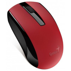 Genius ECO-8100 Myš, bezdrátová, optická, 1600dpi, dobíjecí,USB, červená