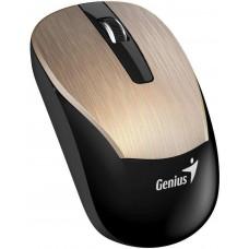 Genius ECO-8015 Myš, bezdrátová, optická, 1600dpi, dobíjecí,USB, zlatá