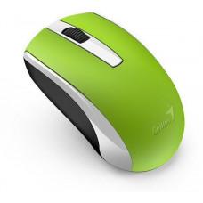 Genius ECO-8100 Myš, bezdrátová, optická, 1600dpi, dobíjecí,USB, zelená