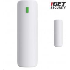 IGET SECURITY EP4 - bezdrátový magnetický senzor pro dveře/okna pro alarm M5, výdrž batt. až 5 let