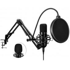 Connect IT ProMIc USB Mikrofon se stolním ramenem, černý
