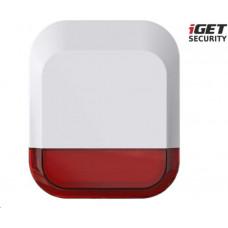 IGET SECURITY EP11 - venkovní siréna napájená baterií nebo adaptérem, pro alarm M5