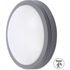 Solight LED venkovní osvětlení se senzorem Siena, šedé, 20W, 1500lm, 4000K, IP54, 23cm