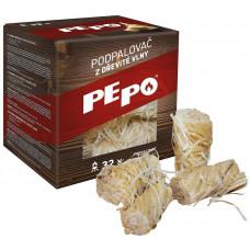 PE-PO podpalovač z dřevité vlny (32ks)