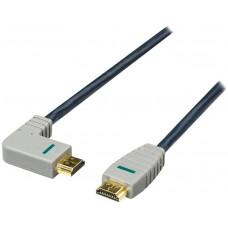 Bandridge HDMI digitální kabel s Ethernetem, levý úhlový konektor, 2m, BVL1402