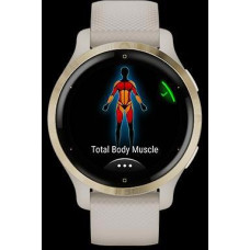 Garmin GPS sportovní hodinky Venu 2S Rose Gold/White Leather Band