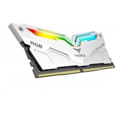 TEAMGROUP DIMM DDR4 16GB 4000MHz, CL18, (KIT 2x8GB), T-FORCE Night Hawk RGB (White)