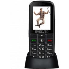 EVOLVEO EasyPhone EG, mobilní telefon pro seniory s nabíjecím stojánkem (černá barva)