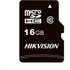 Hikvision MicroSDHC karta 16GB C1 (R:92MB/s, W:10MB/s) + adapter