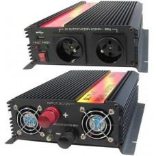 CARSPA Měnič napětí Carspa CAR1.6KU-12, 12V/230V+USB 1600W modifikovaná sinus