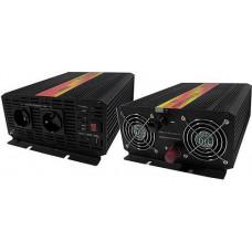 CARSPA Měnič napětí Carspa CAR2KU-12 12V/230V+USB 2000W, modifikovaná sinus