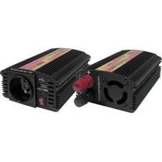CARSPA Měnič napětí Carspa CAR300U-12 12V/230V+USB 300W, modifikovaná sinus