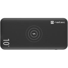 NATEC bezdrátová powerbanka TREVI 10 000mAH černá, USB 2.0, typu C a MICRO