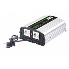 CARSPA Měnič napětí Carspa CPS1000 12V/230V 1000W, čistá sinus, s nabíječkou 12V/10A a funkcí UPS