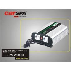 CARSPA Měnič napětí Carspa CPS2000 12V/230V 2000W, čistá sinus, s nabíječkou 12V/15A a funkcí UPS