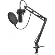 GENESIS Streamovací mikrofon Genesis Radium 300,XLR, kardioidní polarizace, ohybné rameno